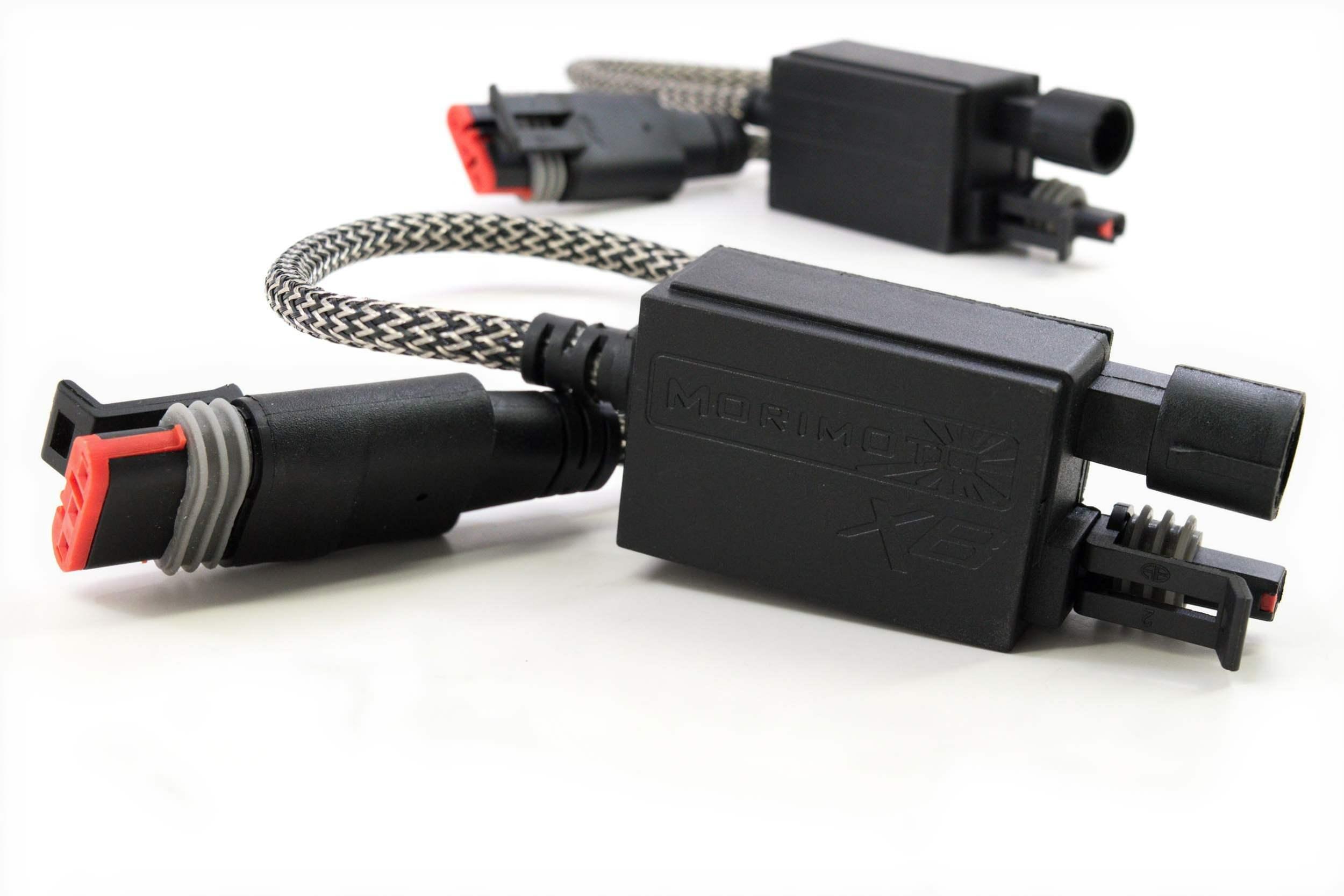 9006 Male  Molex Female 4 Items Adapter XB HID 5000K Lo//Hi Bulbs Bundle with MotoControl Harness adapters Kelvin Rating H4//9003