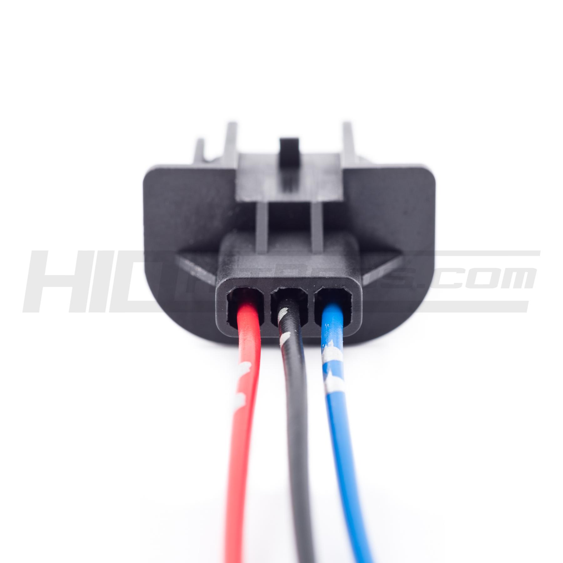 2pcs Ceramic Wire Wiring Harness Sockets 9008 H13 For Headlights Fog HID Halogen