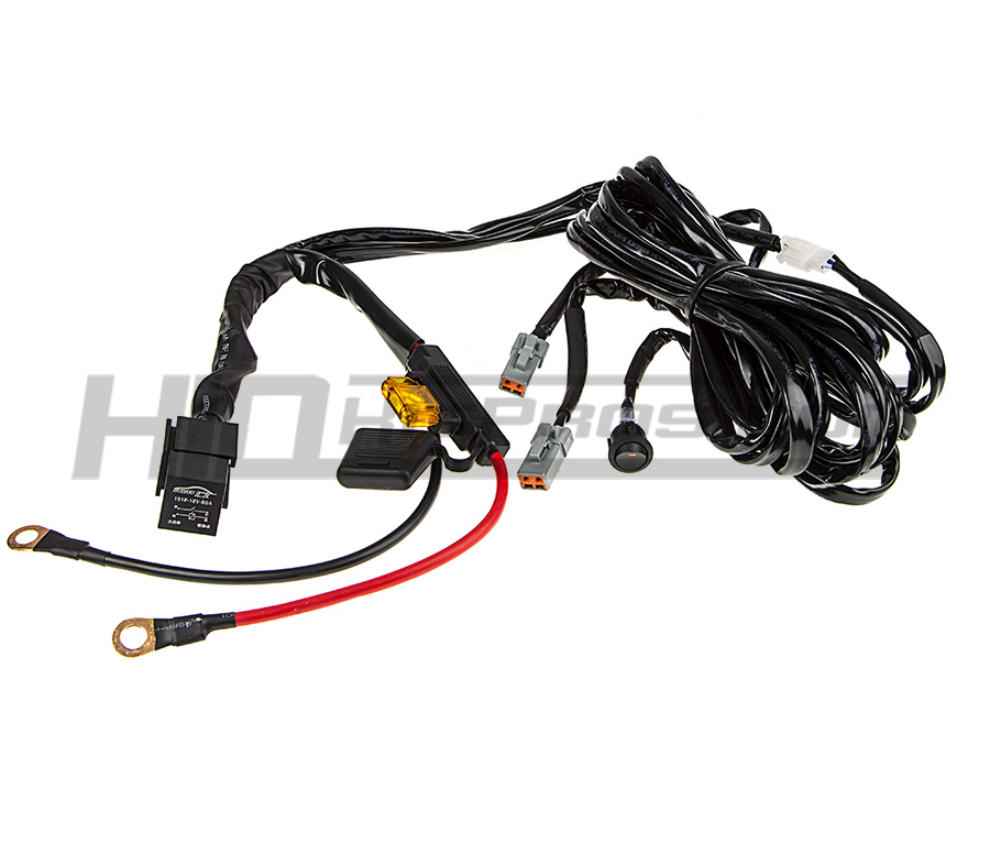 TOTRON Heavy Duty Dual Light Bar Wiring Harness - 2 Bars / 1 HarnessHID Kit Pros