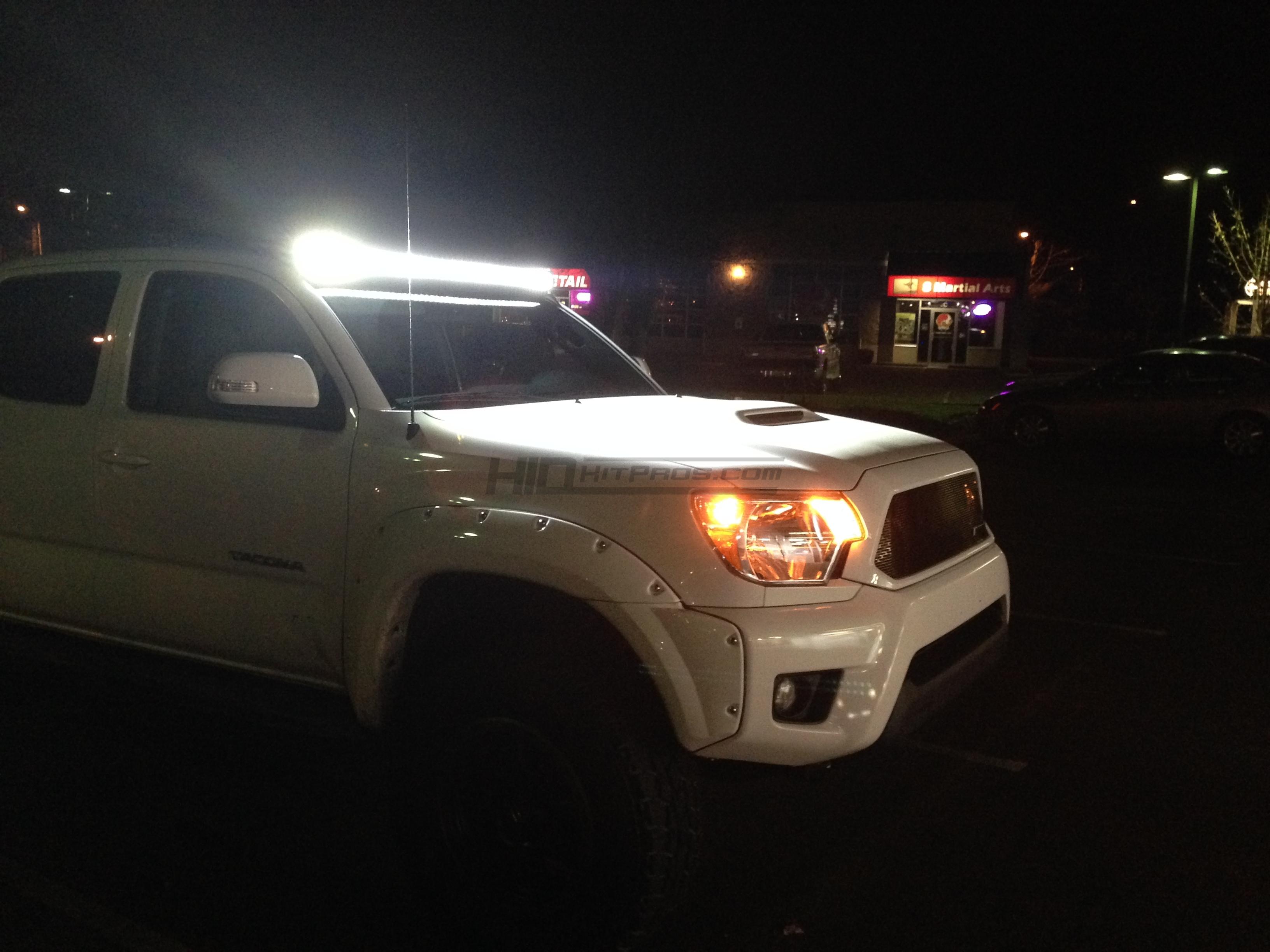 2005 2019 Toyota Tacoma 50 Light Bar Roof Brackets Hid Kit Pros