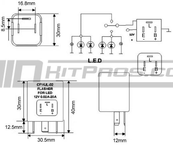 Cf14 Ep35 Led Flasher Relay Module