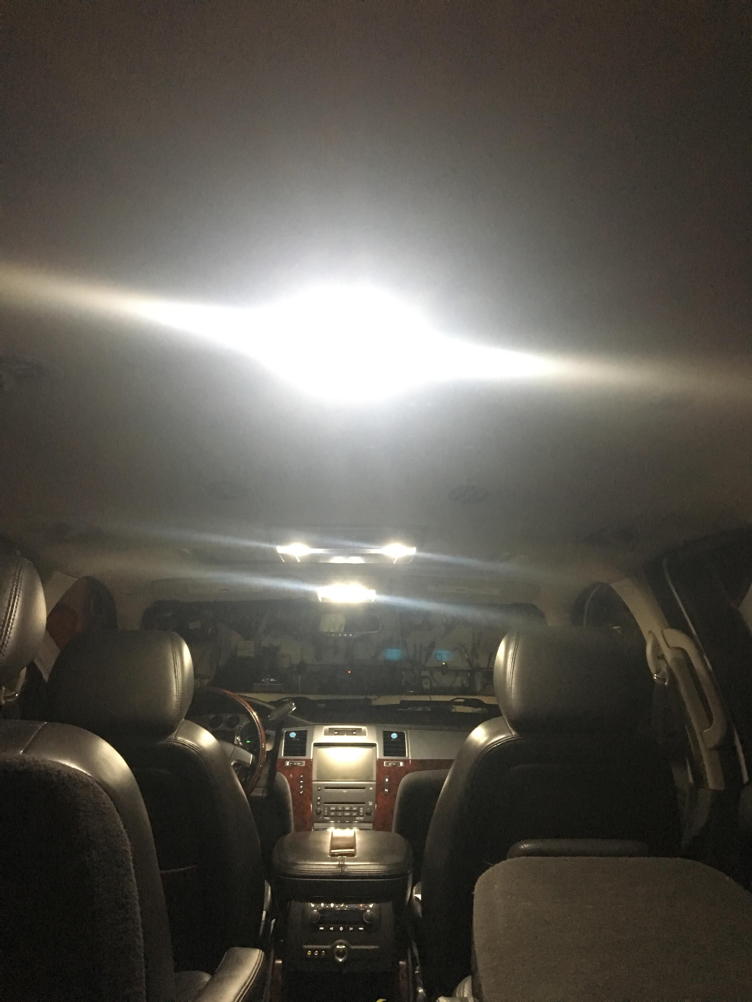 TOOL 8 x White LED Interior Lights Package For 2013-2018 Subaru XV Crosstrek
