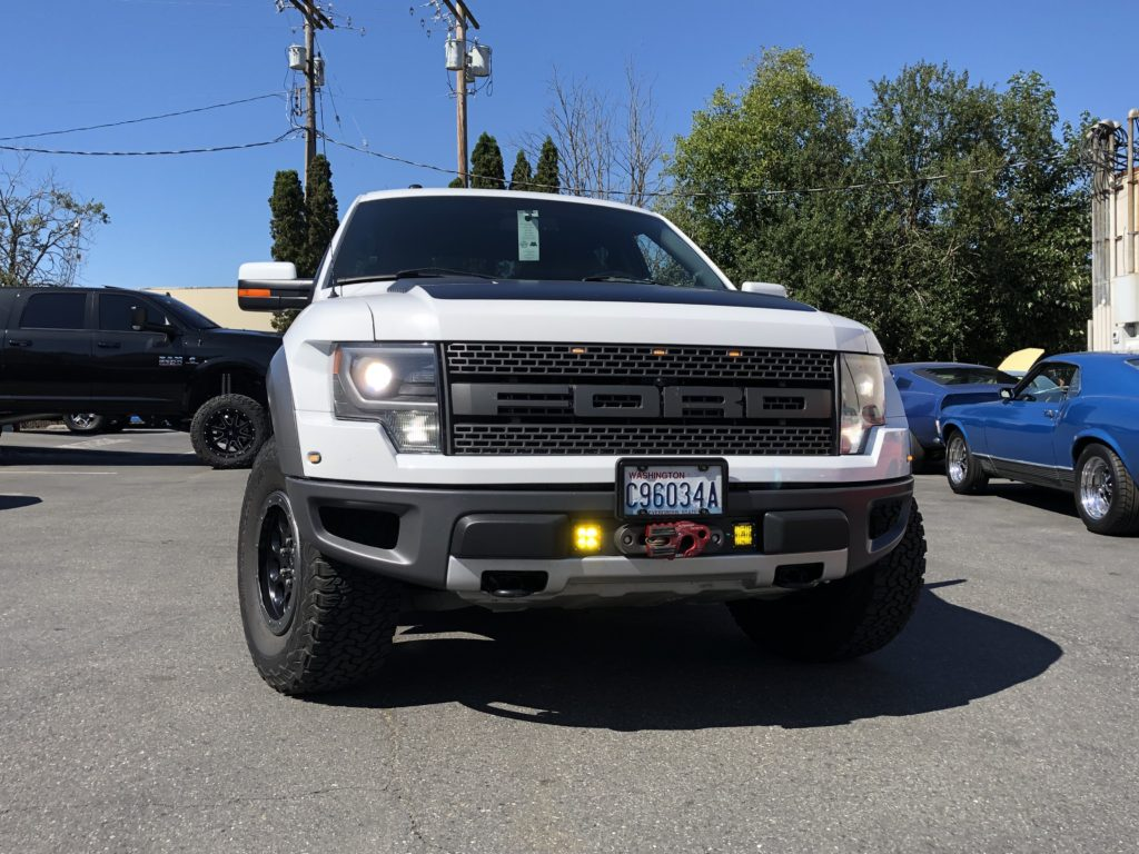 Rigid Industries A Series Black LED Amber Low Strength Accessory Light Pair
